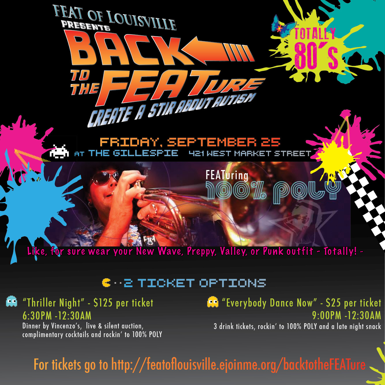 FEAT of Louisville presents BACK to the FEATure! – Create a Stir about Autism 80's style!